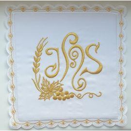 Palka biała haftowana IHS (1)