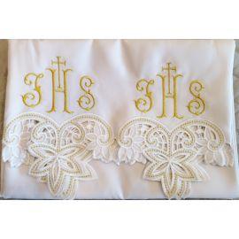 Obrus ołtarzowy haftowany - wzór eucharystyczny (112)