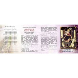 Folder składany Nowenna Pompejańska