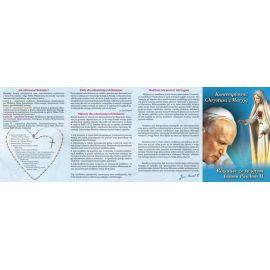 Folder składany Różaniec ze świętym Janem Pawłem II