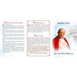 Folder składany Modlitwa do Św. Jana Pawła II