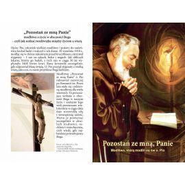 Folder składany z modlitwą Świętego Ojca Pio