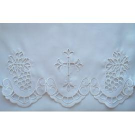 Obrus ołtarzowy haftowany - wzór eucharystyczny (176)