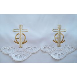 Obrus ołtarzowy haftowany - wzór eucharystyczny (180)