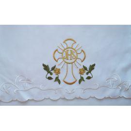 Obrus ołtarzowy haftowany - wzór eucharystyczny (183)