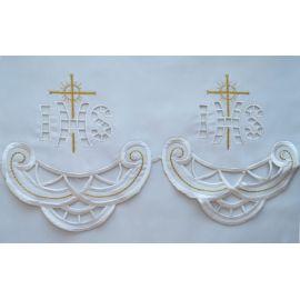 Obrus ołtarzowy haftowany - wzór eucharystyczny (185)