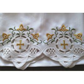 Obrus ołtarzowy haftowany - wzór eucharystyczny (109)