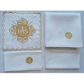 Bielizna kielichowa złoty IHS - haft (134)