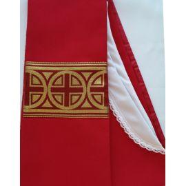 Stuła kapłańska czerwona nr 24