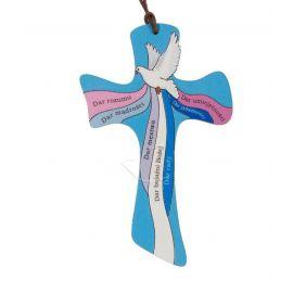 Krzyż drewniany - Bierzmowanie (Ceramika Drewniana)