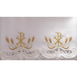 Obrus ołtarzowy haftowany - wzór eucharystyczny (101)