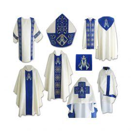 Komplet szat liturgicznych - wzór Maryjny
