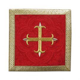 Palka czerwona Krzyż + złote obszycie