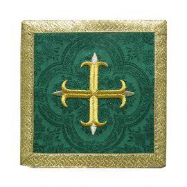 Palka zielona Krzyż + złote obszycie