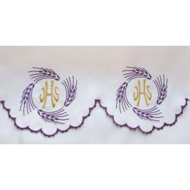 Obrus ołtarzowy haftowany - Kłosy IHS (74)