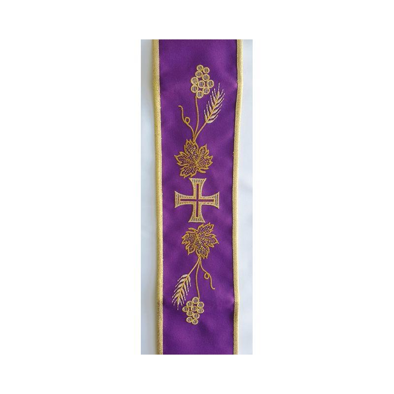 Szarfa do dzwonków haftowana fioletowa