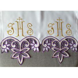 Obrus ołtarzowy haftowany - wzór eucharystyczny (195)