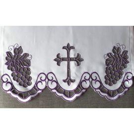 Obrus ołtarzowy haftowany - wzór eucharystyczny (196)