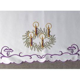 Obrus ołtarzowy haftowany - wzór adwentowy (198)