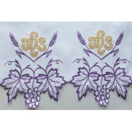 Obrus ołtarzowy haftowany - wzór eucharystyczny (199)