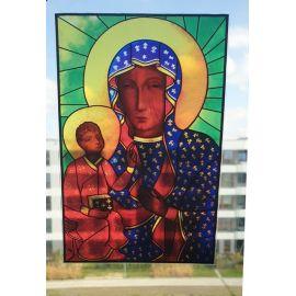 Witraż magnetyczny - Obraz Matki Bożej Jasnogórskiej