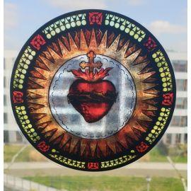 Witraż magnetyczny - Najświętsze Serce Jezusa