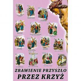 Plakat Wielkanocny - Zbawienie przyszło przez krzyż