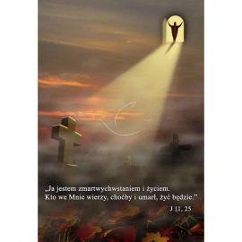 Plakat na Wszystkich Świętych – Ja jestem zmartwychwstaniem i życiem…