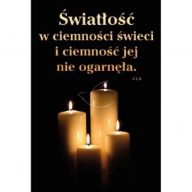 Plakat Adwentowy - Światłość w ciemności świeci i ciemność jej nie ogarnęła
