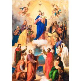Matka Boża Wspomożycielka Wiernych - Ikona dwustronna z modlitwą format A5 (2)