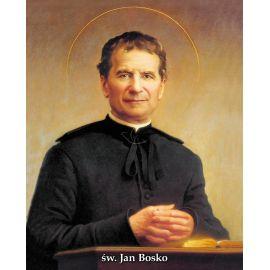 Święty Jan Bosko - Ikona dwustronna z modlitwą format A5