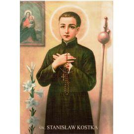 Święty Stanisław Kostka - Ikona dwustronna z modlitwą format A5