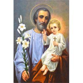 Święty Józef - Ikona dwustronna z modlitwą format A5