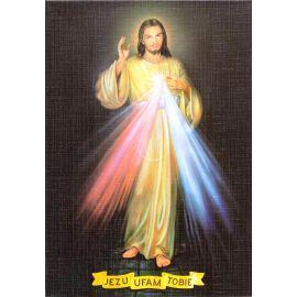 Jezu Ufam Tobie - Ikona dwustronna z modlitwą format A5