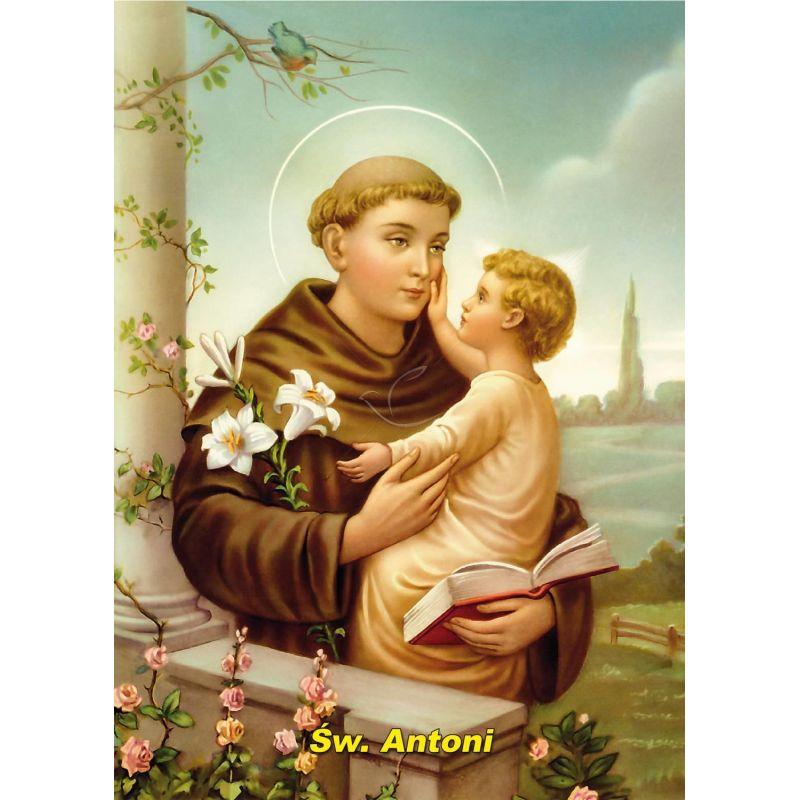 Święty Antoni - Ikona dwustronna z modlitwą format A4