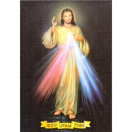 Jezu Ufam Tobie - Ikona dwustronna z modlitwą format A4