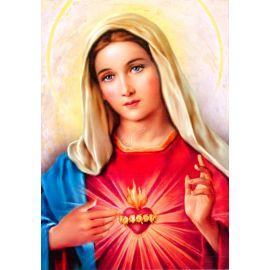 Serce Maryi - Ikona dwustronna z modlitwą format A4