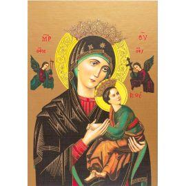 Matka Boża Nieustającej Pomocy - Ikona dwustronna z modlitwą format A4