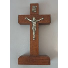 Krzyżyk drewniany stojący ciemny brąz 10x5 cm