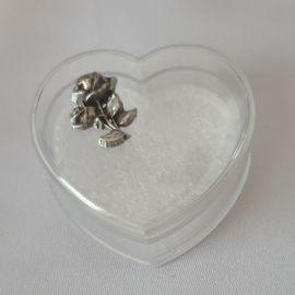 Pudełeczko na różaniec w kształcie serca