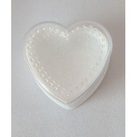 Pudełko na różaniec serce, dekoracyjne kropeczki