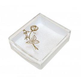 Pudełeczko na różaniec ozdobna złocona róża