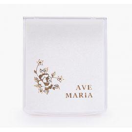 Pudełko na różaniec Ave Maria + róża
