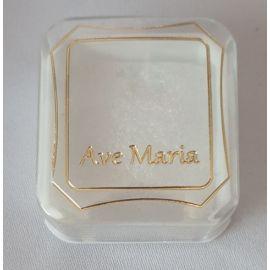 Pudełko na różaniec napis Ave Maria