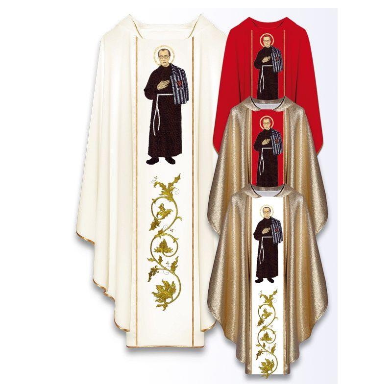Ornat z wizerunkiem św. Maksymiliana Maria Kolbe