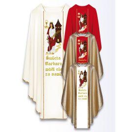 Ornat z wizerunkiem św. Barbary
