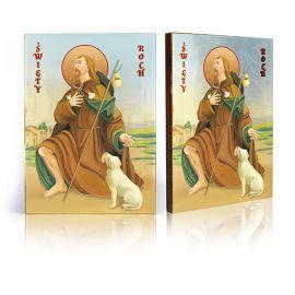Ikona Święty Roch - patron chroniący od zarazy