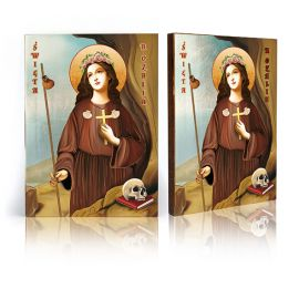 Ikona Święta Rozalia - patronka chroniąca od zarazy