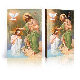 Ikona Święty Jan Chrzciciel i Jezus Chrystus - Chrzest Jezusa Chrystusa w Jordanie