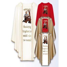 Ornat z wizerunkiem św. Izydora